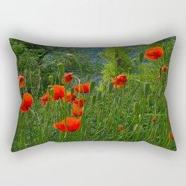 Wild poppies of the Pyrenees mountains Rectangular Pillow