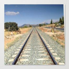 Train in Spain Canvas Print