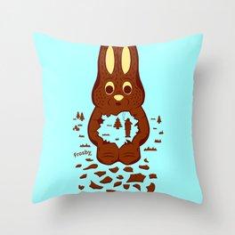 Chocolate Hunting Throw Pillow
