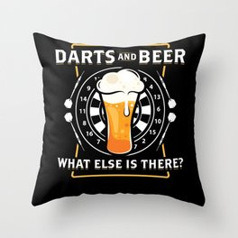 Darts And Beer - Darts Player Throw Pillow