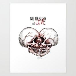 no gender just love Art Print