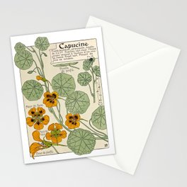 Maurice Verneuil - Capucine - botanical poster Stationery Cards