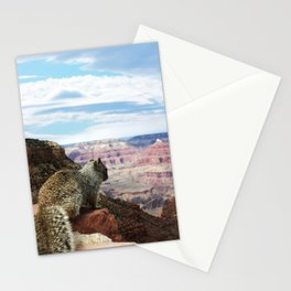 Squirrel Overlooking Grand Canyon Stationery Cards