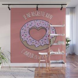 Je ne regrette rien-Amour-Douceur-Love-Donuts Wall Mural