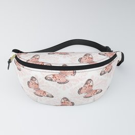 Pretty Coral Butterflies Fanny Pack