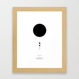 The Solar System (white) Framed Art Print