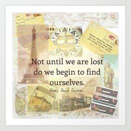 Inspirational Travel Quote Art Print