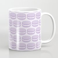 macaroon Mugs featuring Purple Macaroon Pattern - Lavender Macaron by French Macaron Art Print and Decor Store