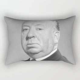 Alfred Hitchcock Portrait Rectangular Pillow