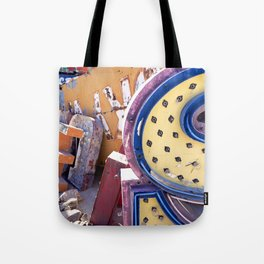 Broken Down Signs, Lights, and Colours in Las Vegas 03 Tote Bag