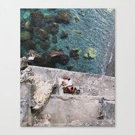 Secret Picnic, Amalfi Canvas Print