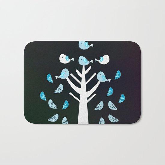Birds in a tree Bath Mat