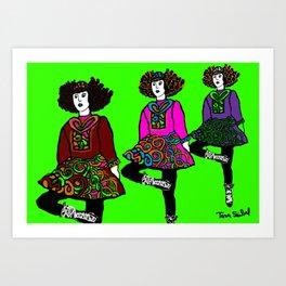 irish dancers Art Print