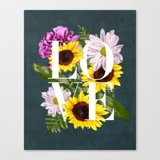 Love in Flowers Canvas Print