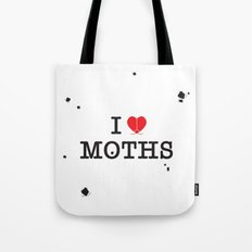 I Love Moths Tote Bag