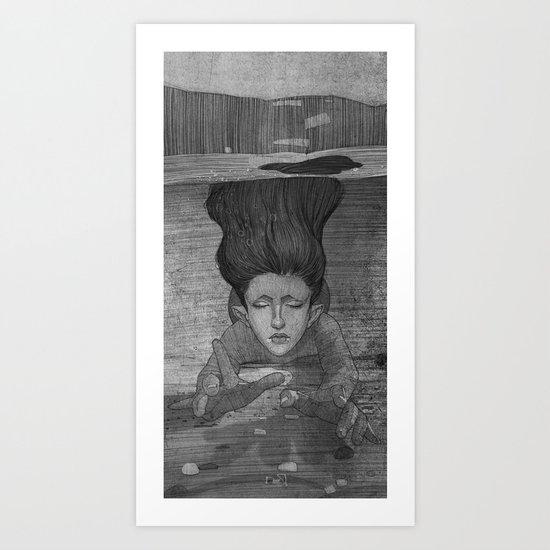 Sea Lady illustration Art Print
