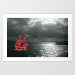 Embroidered Sea Vision Art Print