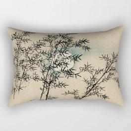 Bamboo Branches Traditional Japanese Flora Rectangular Pillow