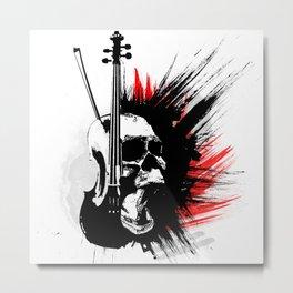 ViolinScull Metal Print