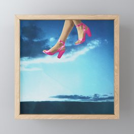 Walking on Air Framed Mini Art Print