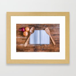 Cookbook Framed Art Print