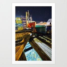 Beneath The Wharf Art Print