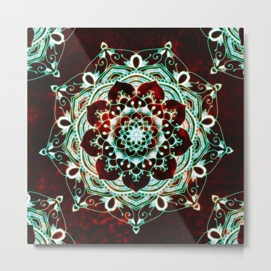 Glowing Soul Mandala Metal Print