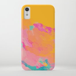 full color abstract sunset iPhone Case