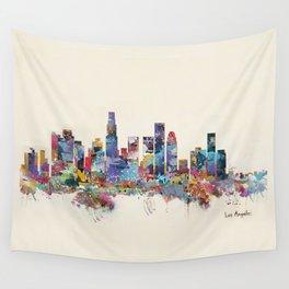 los angeles california skyline Wall Tapestry