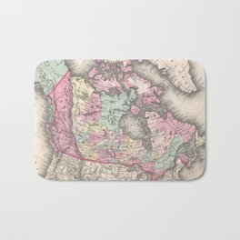 Vintage Map of Canada (1857) Bath Mat