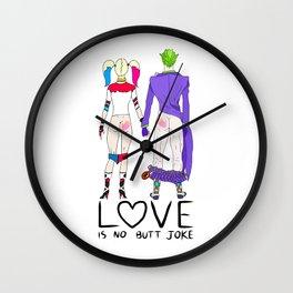LOVE is no BUTT Joke - Handwritten Wall Clock
