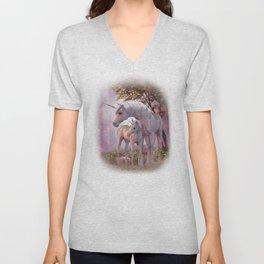 Enchanted Unicorns Unisex V-Neck