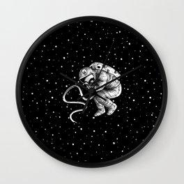 reborn in space Wall Clock