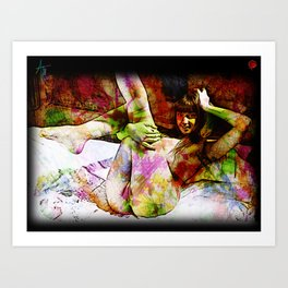 Woman In Bed Art Print