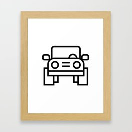 Jeep 4x4 Car Icon (Front-View) Framed Art Print