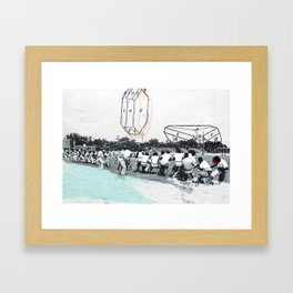 how sweet it is/how little it shows Framed Art Print