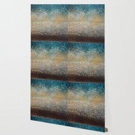Landscape Dots - Turquoise Wallpaper