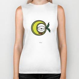 Moon Goddess with Coffee Leaf Eye-lash [Spa Ixchel] Biker Tank