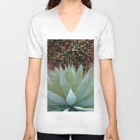 succulents V-neck T-shirts featuring Succulents by Juliette