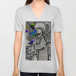 St. Francis of Assisi Unisex V-Neck