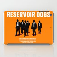 reservoir dogs iPad Cases featuring Reservoir Dogs Movie Poster by FunnyFaceArt