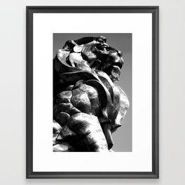 A King's Profile Framed Art Print