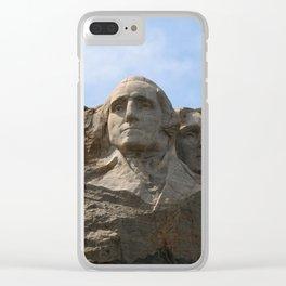 George Washington And Thomas Jefferson  - Mount Rushmore Clear iPhone Case