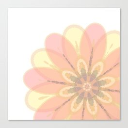 Abstract Floral Card Canvas Print