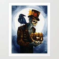 Shadow Man 4 Art Print