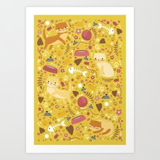 For the love of cats Art Print