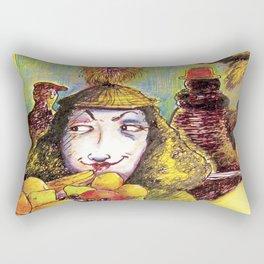 Fruit Hats and Feathers Rectangular Pillow