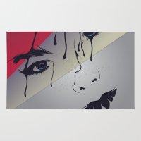 bjork Area & Throw Rugs featuring Björk by freefallflow