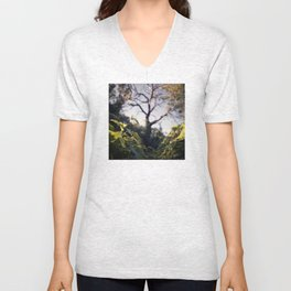 Old Tree, Color Film Photo Unisex V-Neck