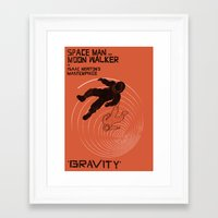 gravity Framed Art Prints featuring GRAVITY by Resistance